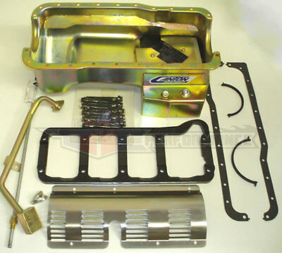 Canton Ford 351w Swap Rear Sump T Style Road Drag Race Wet Sump Oil Pan 6pc Kit