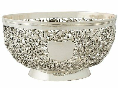 Chinese Export Silver Bowl - Antique Circa 1870
