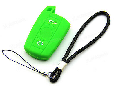 Green Silicone Case Cover For Bmw Remote Smart Key 3 Buttons 3 5 Series B35gr