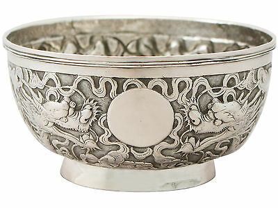 Antique Circa 1890 Chinese Export Silver Bowl