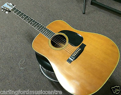 martin and co d35 vintage 1974 acoustic electric guitar