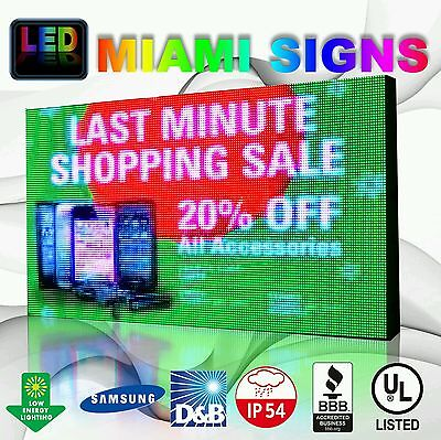 """Full Color Led Sign 25"""" X 38"""" P10 Outdoor Programmable 10mm Pitch Led Display Us"""