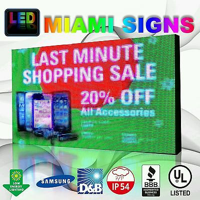 """Full Color Led Sign 19"""" X 50"""" P10 Outdoor Programmable 10mm Pitch Led Display Us"""