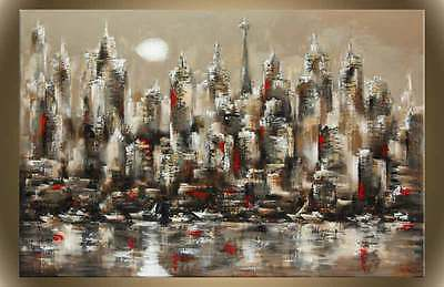 """Victor Zag - Tronto Sunset - Cityscape Painting - Giclee Reproduction 30""""x60"""""""