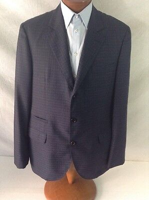 Brunello Cuccinelli Dk.blue Small Plaid 3bt Fitted Wool Suit 44r/39 Eu 54r