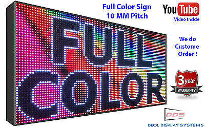 """Full Color 53""""x15"""" 10mm Outdoor Wifi Programmable Digital Led Sign Board Open"""