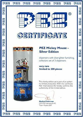 Pez Limited Silver Edition 2007 Mickey Mouse Seald Package