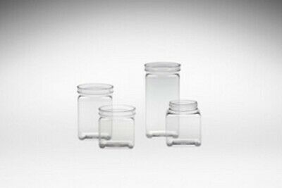 Pvc Square Jar Clear Kichen Jar Food Storage Bin Candy Bin Dry Food 60pk - 120pk