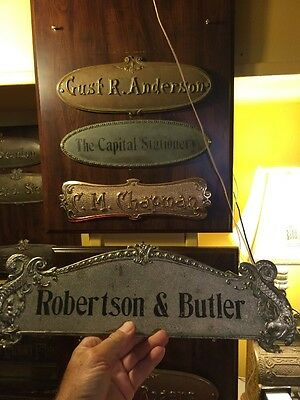 Antique Brass National Cash Register Top Sign  Candy Barber Coin Op Ncr