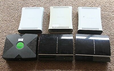 Broken Lot Of Original Xbox & 360 Ps3 Console Systems As-is Parts Repair