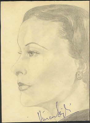 Vivien Leigh - Sketch Signed