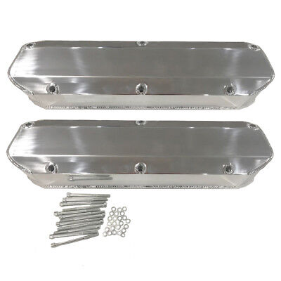 For Ford 289 302 351w 260 Valve Covers Sbf Tall Aluminum Fabricated Polished