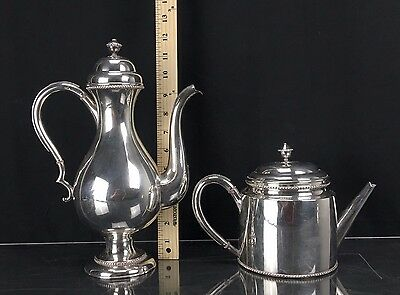 Genuine 19th Century Chinese Export Sterling Silver Tea Pots 1380 Grams