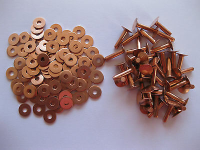Разное Copper hose saddlers rivets 10