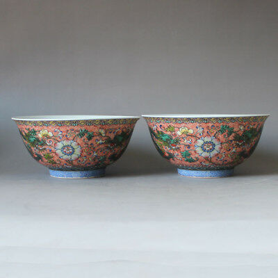 119 Rare Chinese Old Collection Famille Rose Dragon&flower Porcelain Bowl