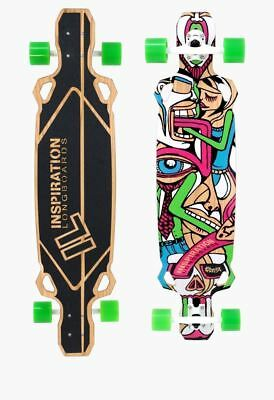 Complete Long Board Original Limited Edition Bamboo Surrealism Art Signed Number