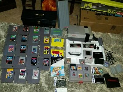 Nintendo Nes Challenge Set System + Original Gameboy System With Games Huge Lot
