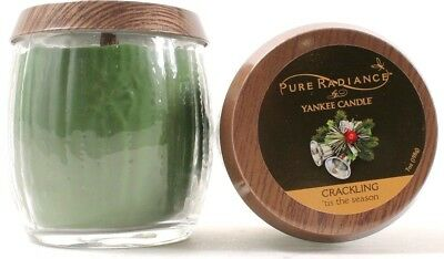 2 Yankee Candle Pure Radiance Crackling Tis The Season Scent Candles 7oz Jars