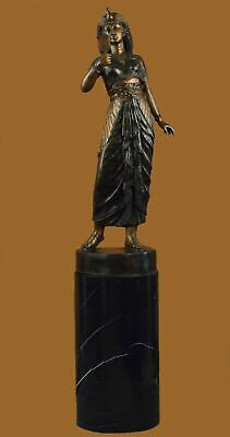 hand made 250lbs cleopatra queen of egypt egyptian collectible bronze sculpture