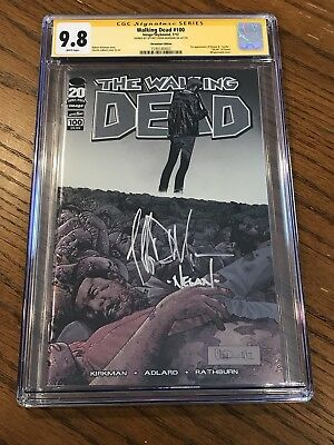 Walking Dead #100 Chromium Variant Cgc 9.8 Ss Jeffrey Dean Morgan Signed!