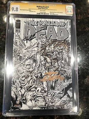 The Walking Dead #1 Neal Adams Sketch Cover Cgc 9.8 Adams Zombie Sketch, Kirkman
