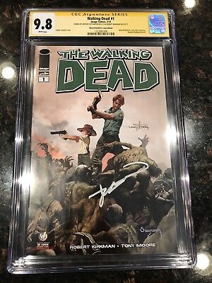Walking Dead #1 Wizard World St. Louis Variant Cgc 9.8 Ss X2 Kirkman, Suydam