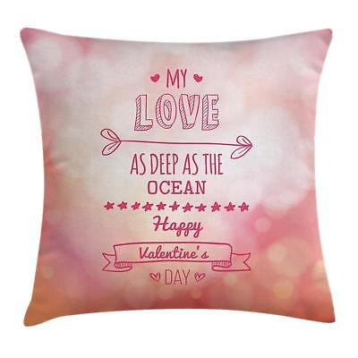 Valentines Day Throw Pillow Cases Cushion Covers Ambesonne Home Decor 8 Sizes