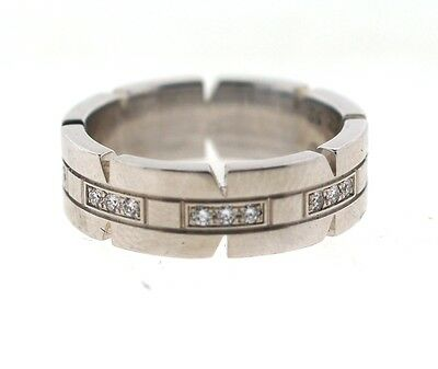 collectible cartier 18k white gold and diamond band!