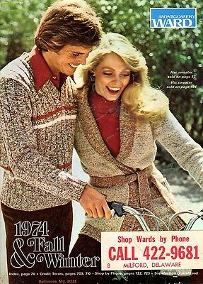Collectible 1974 Montgomery Ward Fall&winter Catalog! Usps Priority Ship/track!