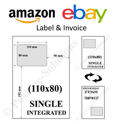 110 X 80 A4 Ebay Amazon Integrated Label Invoice Address  100 500 1000 2000 5000