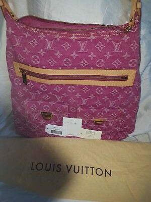 louis vuitton denim baggy gm pink like new