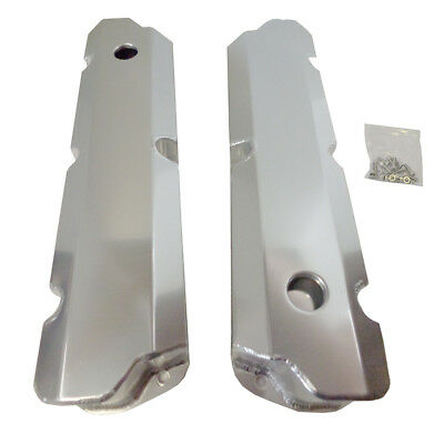 """Valve Covers For Sb Ford  289 302 351w 1/4"""" Billet Rail Sbf Fabricated Aluminum"""