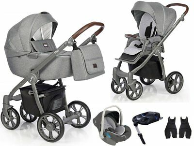 exclusive roan esso total grey baby pram stroller pushchair 12 kg big carrycot!