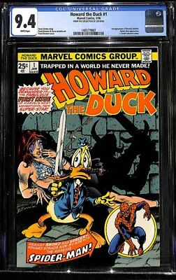 Howard The Duck #1 Cgc 9.4 Marvel 1976 Spider-man! Gotg! White Pages! H9 147 Cm