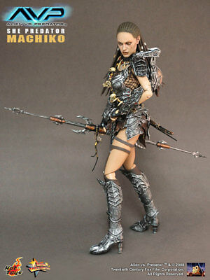 (us) Hot Toys 1/6 Avp Alien Vs Predator Mms74 She Machiko Action Figure