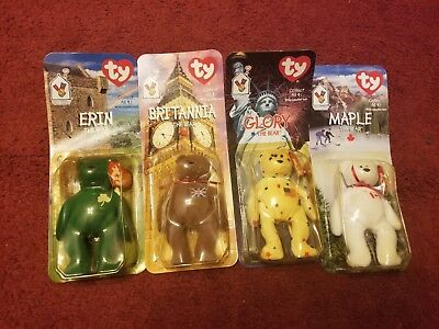 Rare 1993 Ronld Mcdonald House Charities International Beanie Babies Full Set