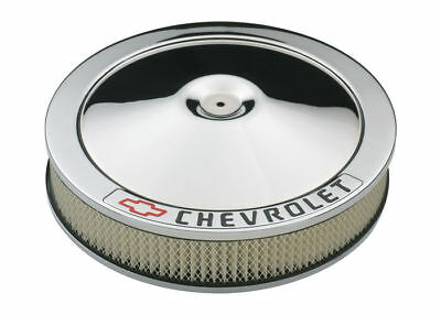 """Proform 141-906 Round Chrome Steel Classic Air Cleaner Assembly Fits Chevy -14"""""""