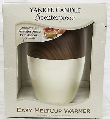Yankee Candle Scenterpiece Electronic Warmer Ivory/wood Grain Apple Meltaway