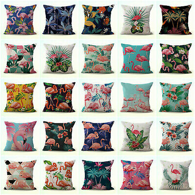 Us Seller- Set Of 20 Exotic Flamingo Tropical Cushion Covers Throw Pillow Case
