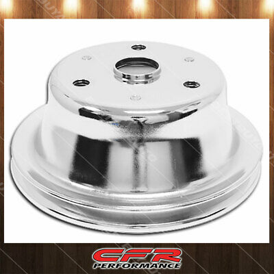 Fits 1969-85 Chevy Sb Small Block Chrome Steel Crankshaft Pulley Long (1 Groove)