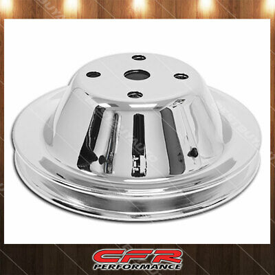 Fits 1969-85 Chevy Sb Small Block Chrome Steel Water Pump Pulley Long (1 Groove)