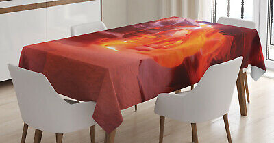 Wild America Tablecloth Ambesonne 3 Sizes Rectangular Table Cover Decor