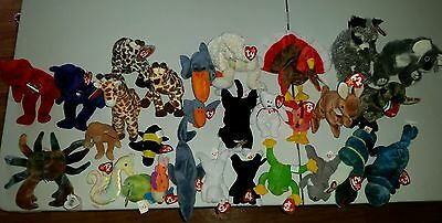 Huge Lot Of Ty Beanie Babies - Includes Some That Are Retired
