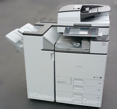 Ricoh Mp C5503 Color Copier, Printer, Scan, 55 Ppm - Meter  Very Low. Uvq