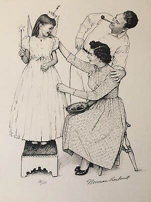 "1976 Norman Rockwell American Family Signed Print A/p- ""debut"""
