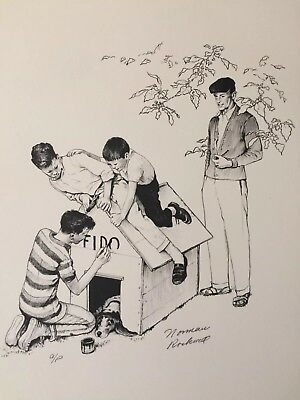"1976 Norman Rockwell American Family Signed Print A/p- ""fido"