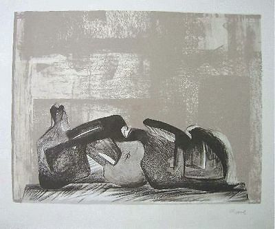 Henry Moore (1898-1986) Hand Signed Original Lithograph..very Rare!