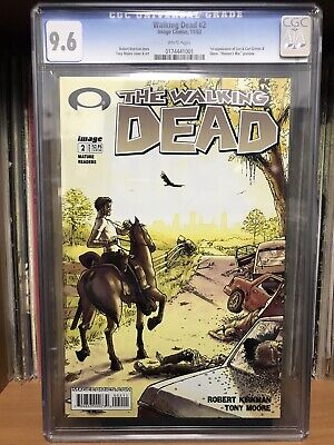 Walking Dead #2 Cgc 9.6 White Pages 1st App Carl Grimes Son Of Rick Michonne