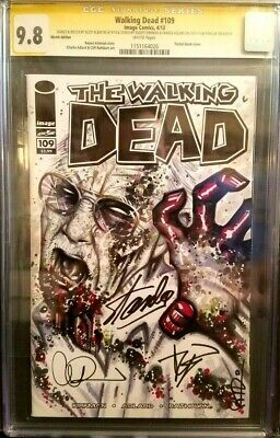 Walking Dead #109 Cgc 9.8 / Zombie Stan / Signed By Kirkman Adlard And Stan Lee!