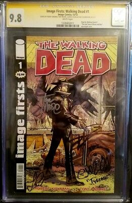 Image Firsts: Walking Dead #1 / Cgc 9.8 Ssx4 / Kirkman / Moore / Cohan / Coleman